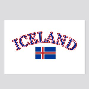 Iceland Soccer Designs Postcards (Package of 8)