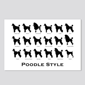 Poodle Styles: Black Postcards (Package of 8)