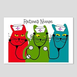 Retired Nurse Blanket CAT Postcards (Package of 8)