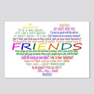 FriendsTVQuotesHeart Postcards (Package of 8)