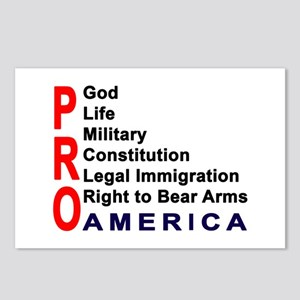 Pro America Postcards (Package of 8)