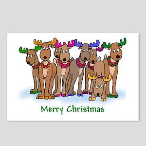 Colorful Reindeer Postcards (Package of 8)