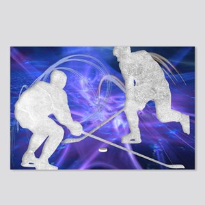 Ice Hockey Players Fighti Postcards (Package of 8)