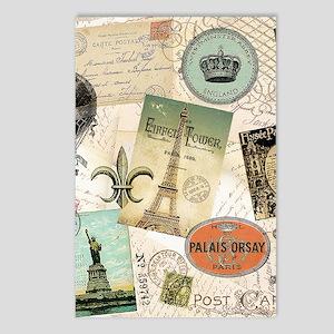 Vintage Travel collage Postcards (Package of 8)