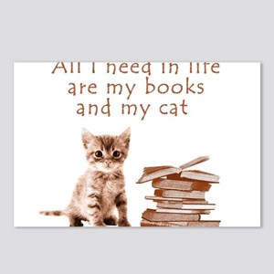 Cats and books Postcards (Package of 8)