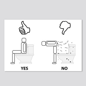 Proper Toilet Usage Postcards (Package of 8)