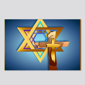 Star Of David and Triple  Postcards (Package of 8)