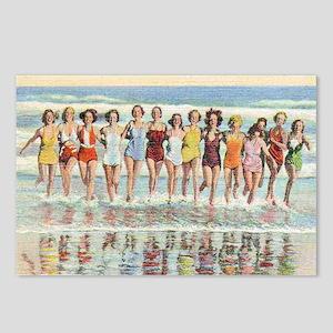 Vintage Women Running Bea Postcards (Package of 8)