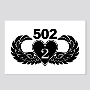 2-502 Black Heart Postcards (Package of 8)