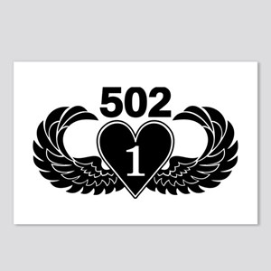 1-502 Black Heart Postcards (Package of 8)