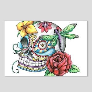 Sugar Skull 069 Postcards (Package of 8)