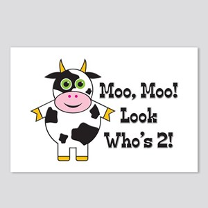 Cute Cow 2nd B-day Postcards (Package of 8)