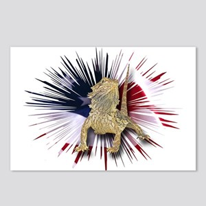 Bearded Dragon USA Postcards (Package of 8)