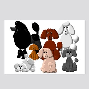 Tiny Poodle Pack Collage Postcards (package Of 8)