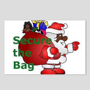 secure the bag santa Postcards (Package of 8)