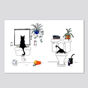 Two Cats In The Bath Postcards (Package of 8)