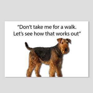 Airedale Terrier Getting Postcards (Package of 8)
