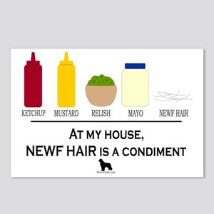 Newf Hair is a Condiment Postcards (Package of 8)