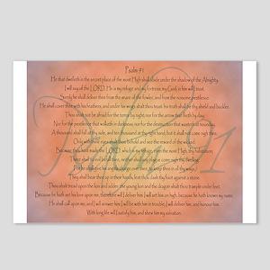 Psalm 91 Orange Script Postcards (Package of 8)
