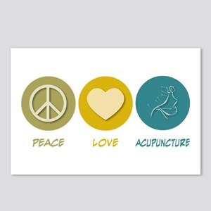Peace Love Acupuncture Postcards (Package of 8)