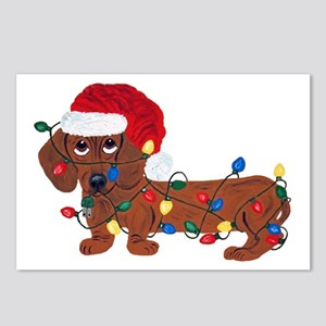 Dachshund (red) Tangled Postcards (package Of 8)