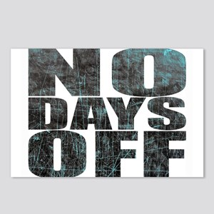 NO DAYS OFF Postcards (Package of 8)