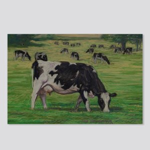Holstein Milk Cow in Past Postcards (Package of 8)