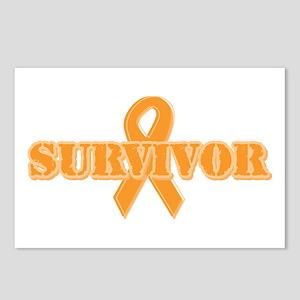 Orange Ribbon Survivor Postcards (Package of 8)