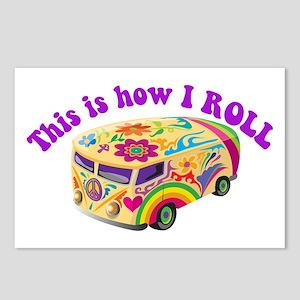 How I Roll (Hippie Van) Postcards (Package of 8)