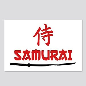 Samurai Kanji and text Postcards (Package of 8)