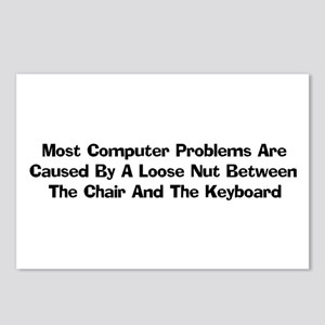 Loose Nut At Keyboard Postcards (Package of 8)