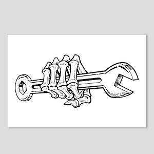Skeleton Hand with Wrench (White/Horizontal) Postc