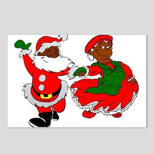black santa mrs claus Postcards (Package of 8)