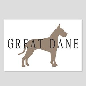 great dane greytones Postcards (Package of 8)