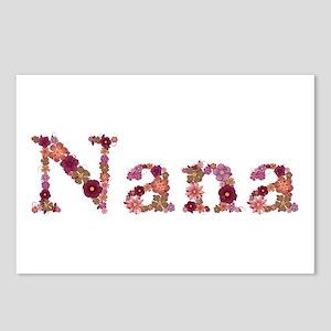 Nana Pink Flowers Postcards 8 Pack