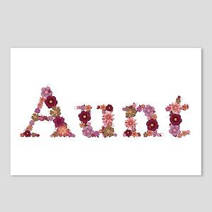Aunt Pink Flowers Postcards 8 Pack