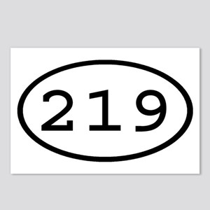 219 Oval Postcards (Package of 8)
