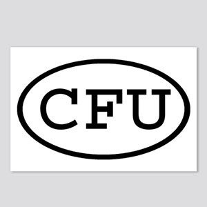 CFU Oval Postcards (Package of 8)