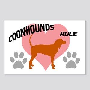 coonhounds rule w/ heart Postcards (Package of 8)