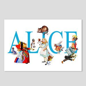 ALICE & FRIENDS IN WONDER Postcards (Package of 8)