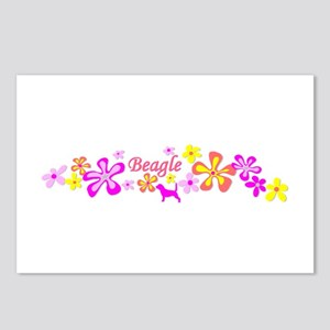 Beagle Flowers Postcards (Package of 8)