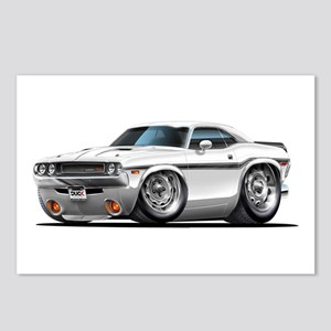 Challenger White Car Postcards (Package of 8)