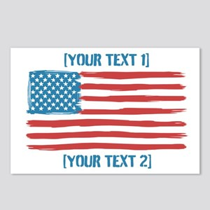 [Your Text] 'Handmade' US Flag Postcards (Package