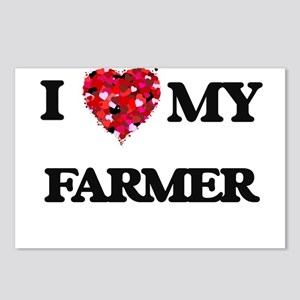 I Love MY Farmer Postcards (Package of 8)