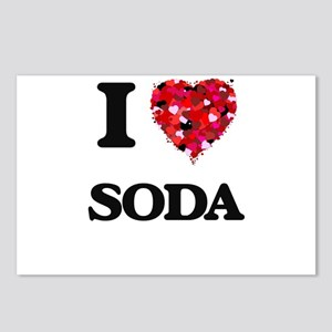 I love Soda Postcards (Package of 8)