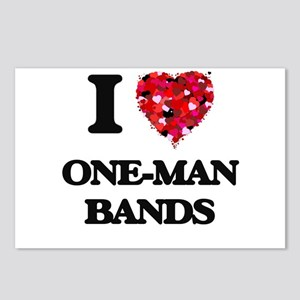 I love One-Man Bands Postcards (Package of 8)