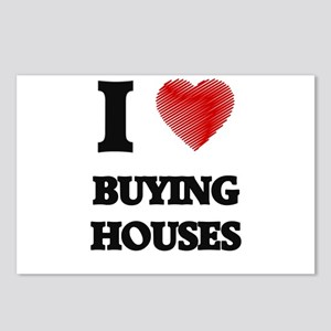 I love Buying Houses Postcards (Package of 8)