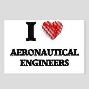 I love Aeronautical Engin Postcards (Package of 8)
