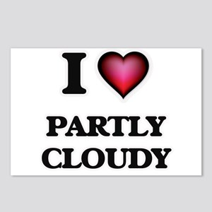 I love Partly Cloudy Postcards (Package of 8)