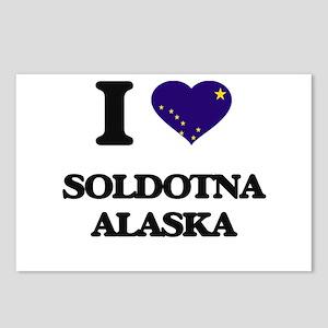 I love Soldotna Alaska Postcards (Package of 8)